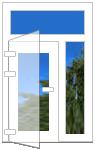 офисная дверь с фрамугой
