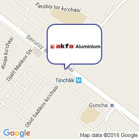 AKFA Aluminium на карте