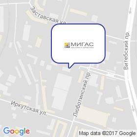 Мигас на карте