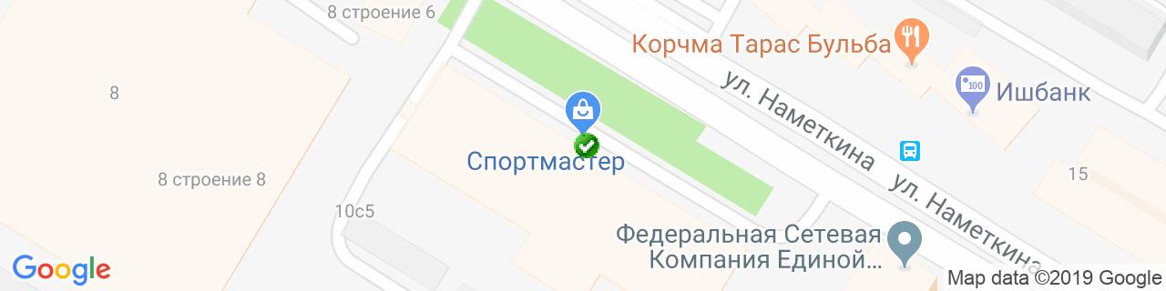 Карта объектов компании ИнСтройКомплект