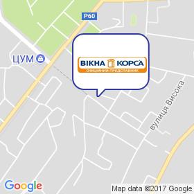 Окна Корса Конотоп на карте