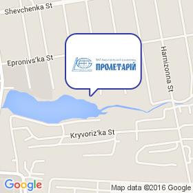 Лисичанский стеклозавод ПРОЛЕТАРИЙ на карте