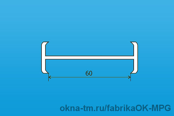 Соединительный профиль балконный СП58, - СП60, СП70