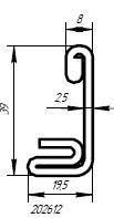 Армирующий профиль для профильной системы SCHUCO (SHСUECO)
