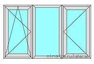 Трехстворчатое пластиковое окно KBE-Эталон