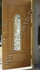 Дверь металлическая со стеклопакетом — Кови плюс