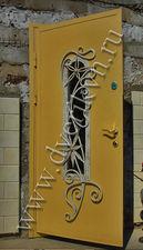 Дверь металлическая с элементами ковки. — Кови плюс